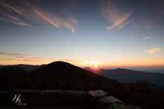 Craggy Pinnacle Sunrise WNC Blue Ridge Parkway