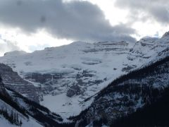 Looking across lake louise from Fairmont Hotel