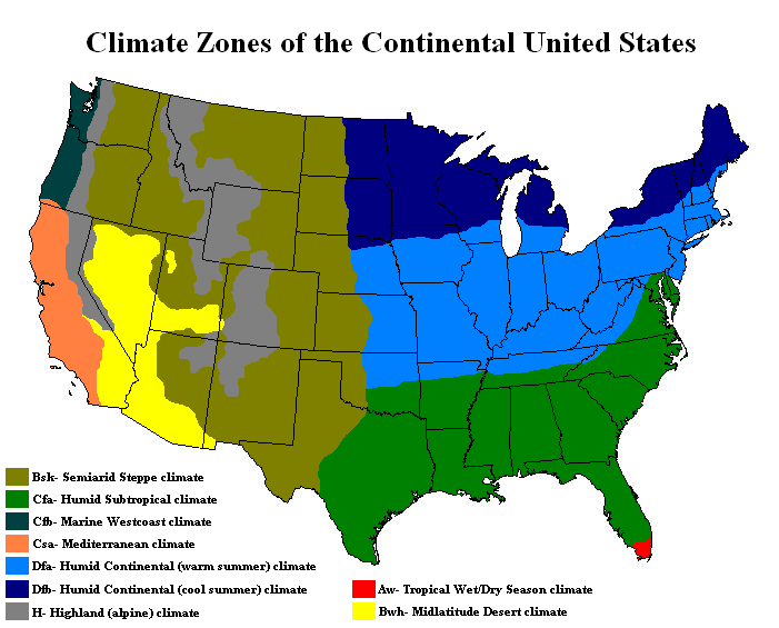 USDA Releases New Climate Zone Map Climate Change American Weather - Us zone map