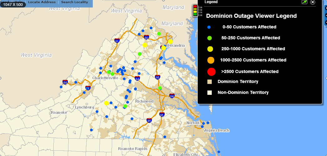 dominion power outage
