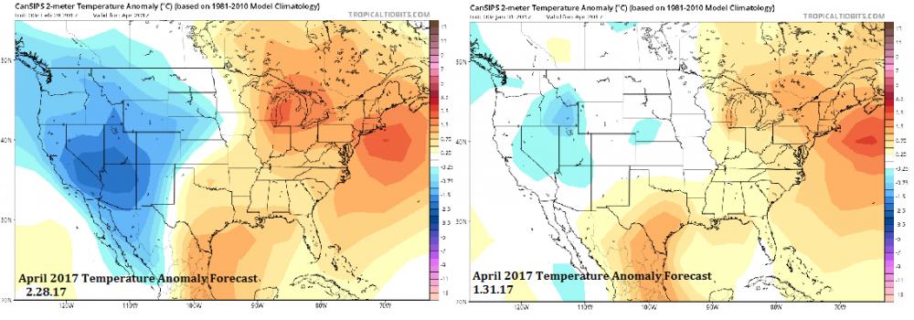 April 2017 US Temperature Anomaly Trend (Feb 28 v Jan 31).png