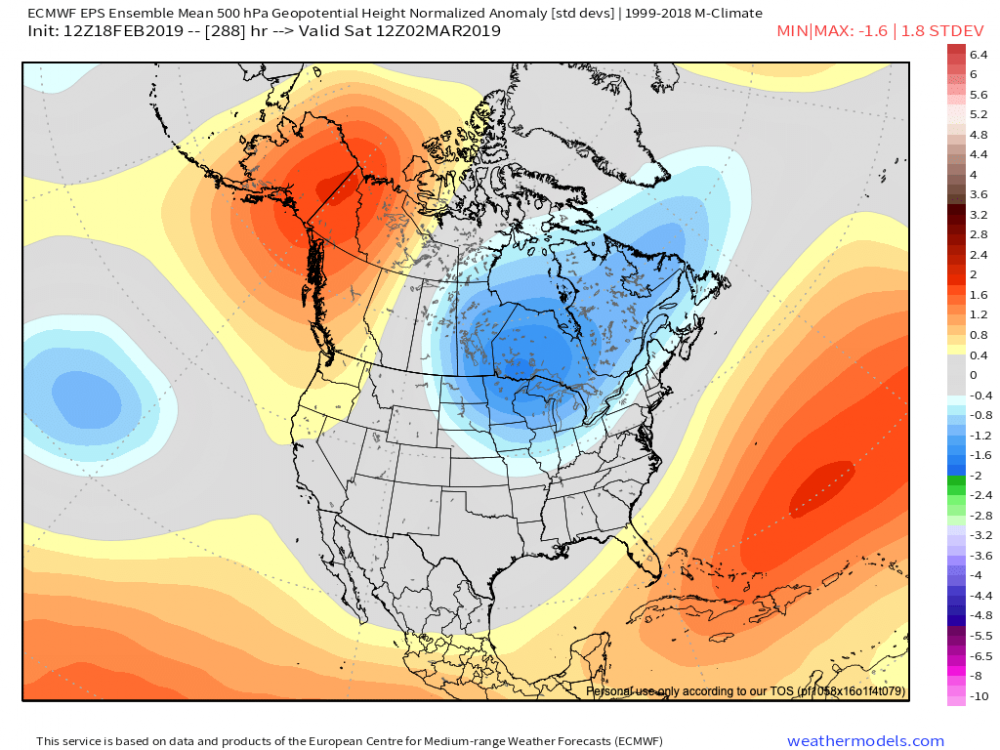 14-km EPS Global North America 500 hPa Z Norm Anom (no) 288.png