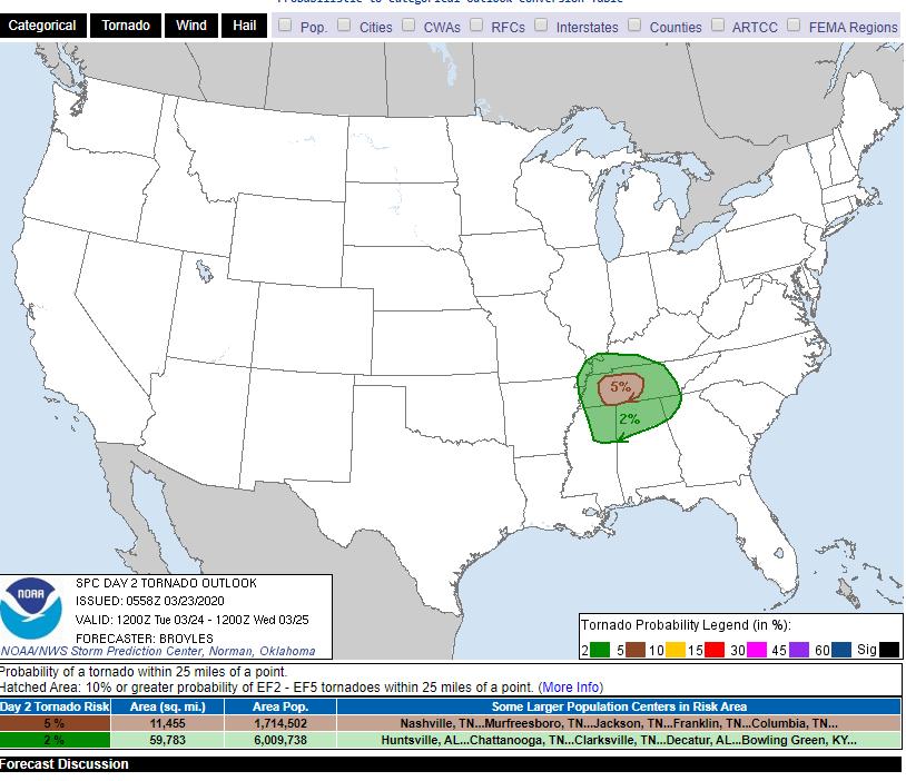 Storm Prediction Center Mar 23  2020 0600 UTC Day 2 Convective Outlook.png